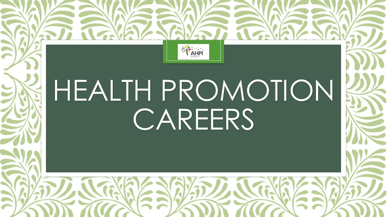 Health Promotion Careers