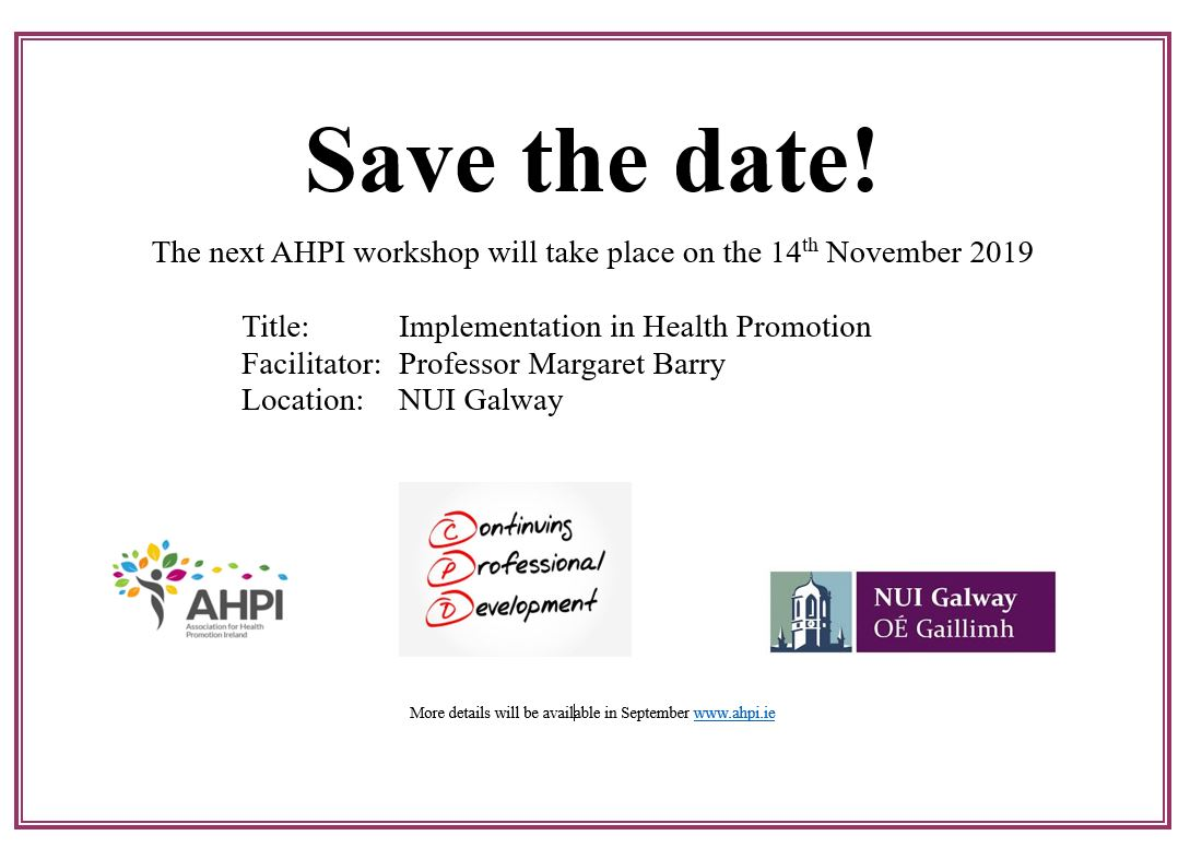 Implementation Save the date